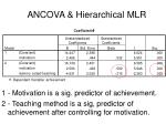 ancova hierarchical mlr4