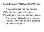 mixed design anova spanova4