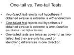 one tail vs two tail tests