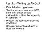 results writing up anova