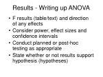 results writing up anova1