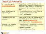 about dave chaffey