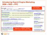 introducing search engine marketing sem seo ppc