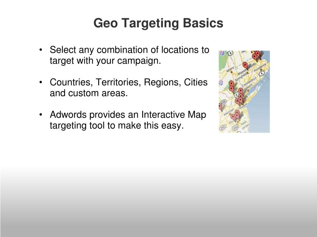 Geo Targeting Basics