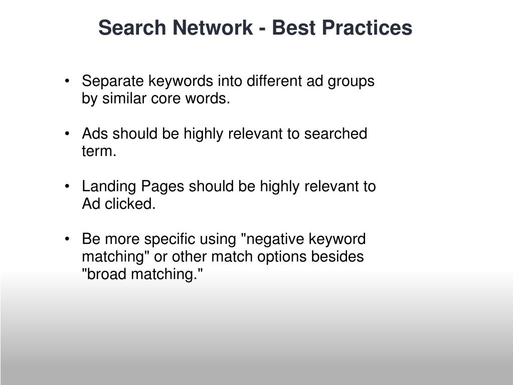 Separate keywords into different ad groups by similar core words.