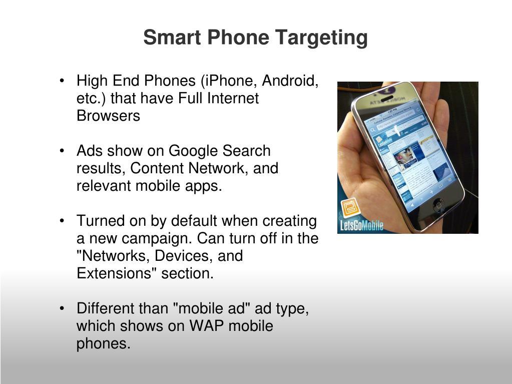 Smart Phone Targeting