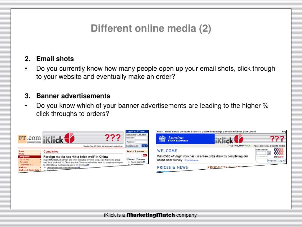 Different online media (2)