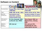 software vs content
