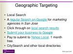 geographic targeting