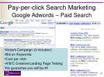 pay per click search marketing