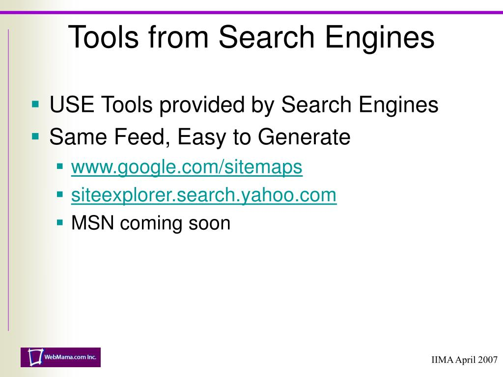 USE Tools provided by Search Engines