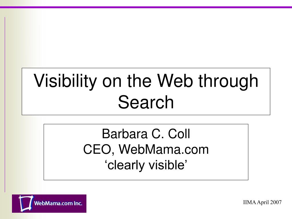 visibility on the web through search l.