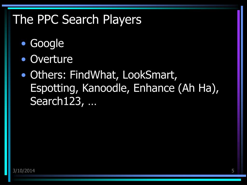 The PPC Search Players