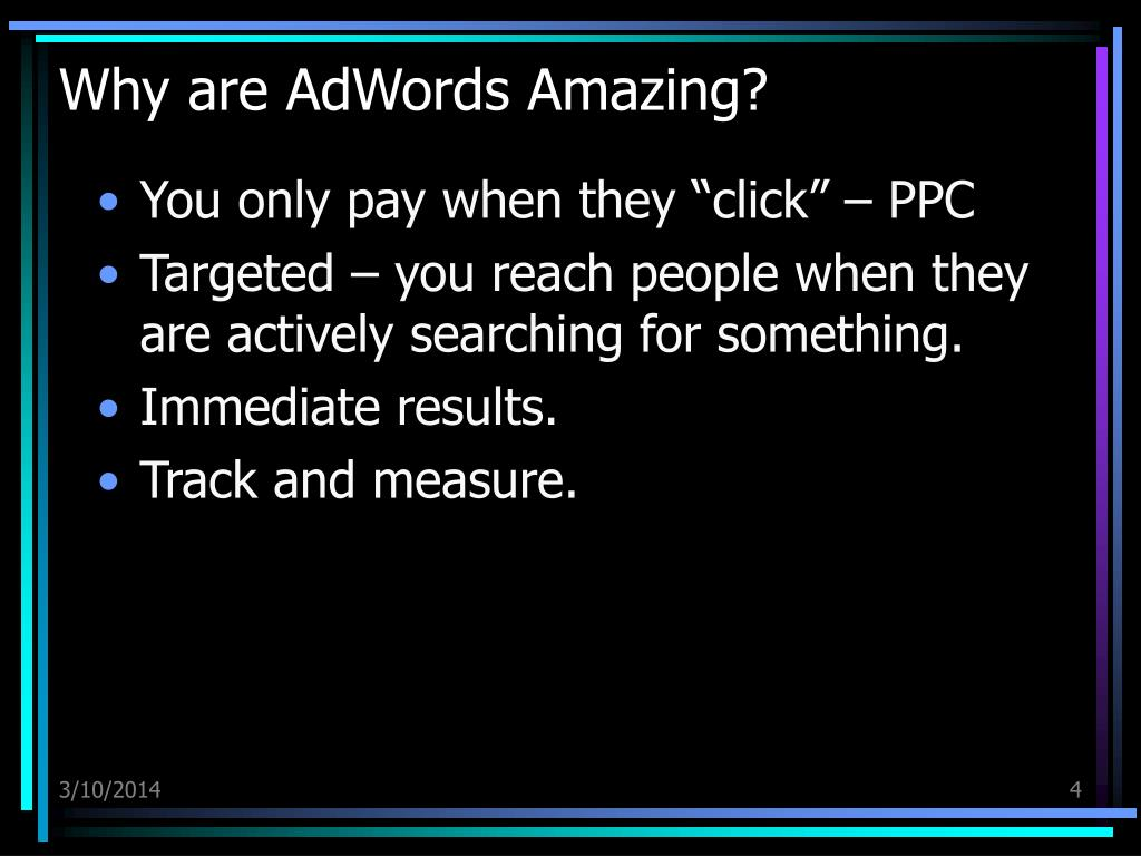 Why are AdWords Amazing?