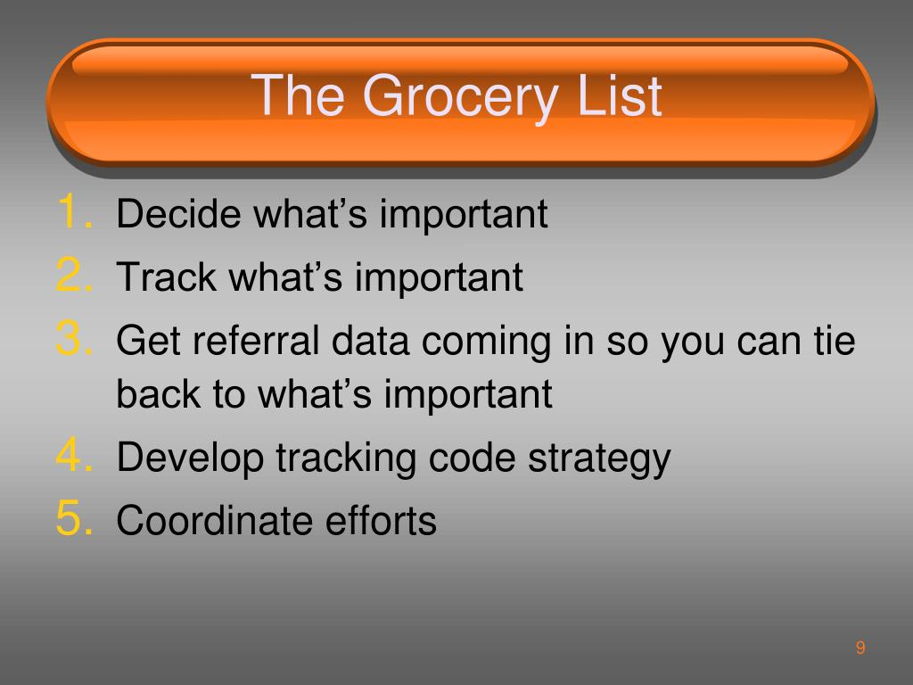 The Grocery List