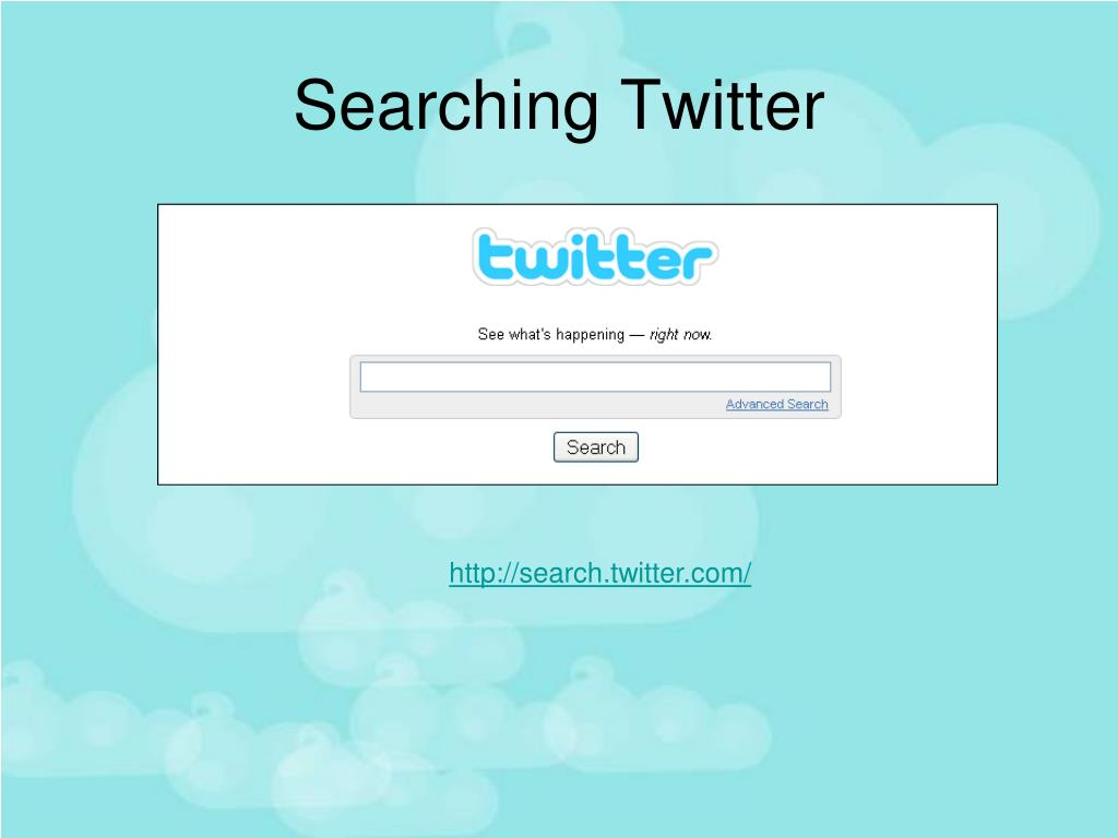 Searching Twitter