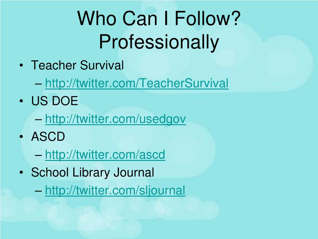 Who Can I Follow? Professionally