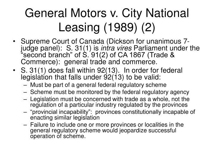 General Motors v. City National Leasing (1989) (2)