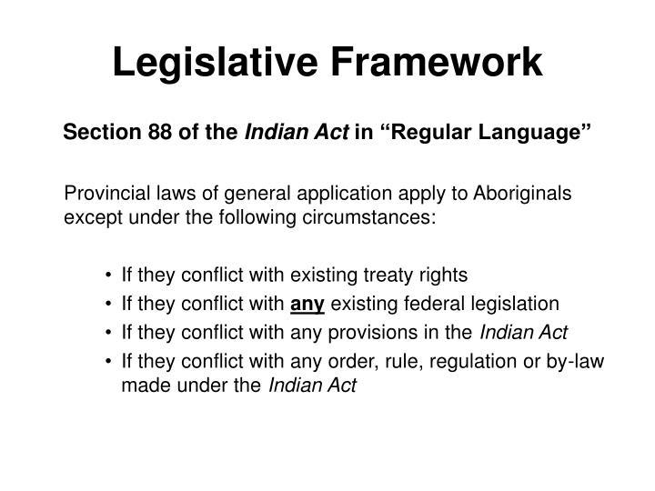 Legislative Framework