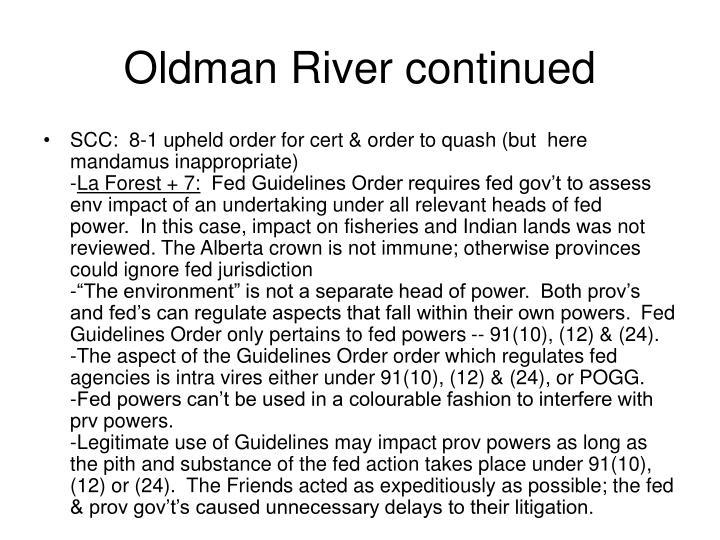 Oldman River continued