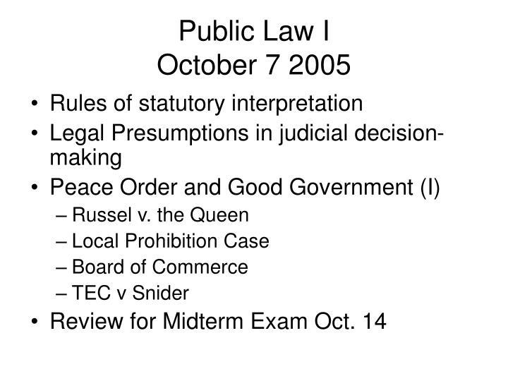 Public Law I