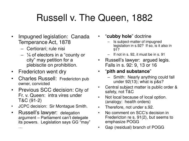 Impugned legislation:  Canada Temperance Act, 1878
