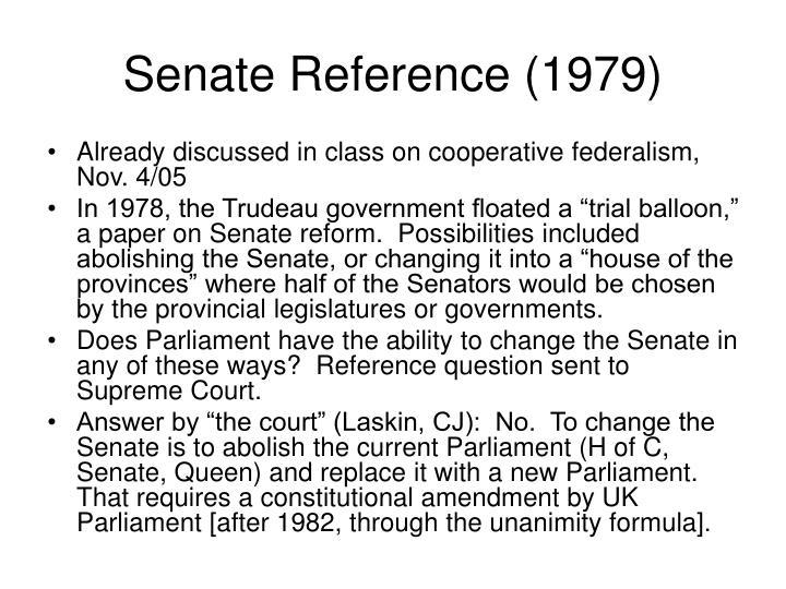 Senate Reference (1979)