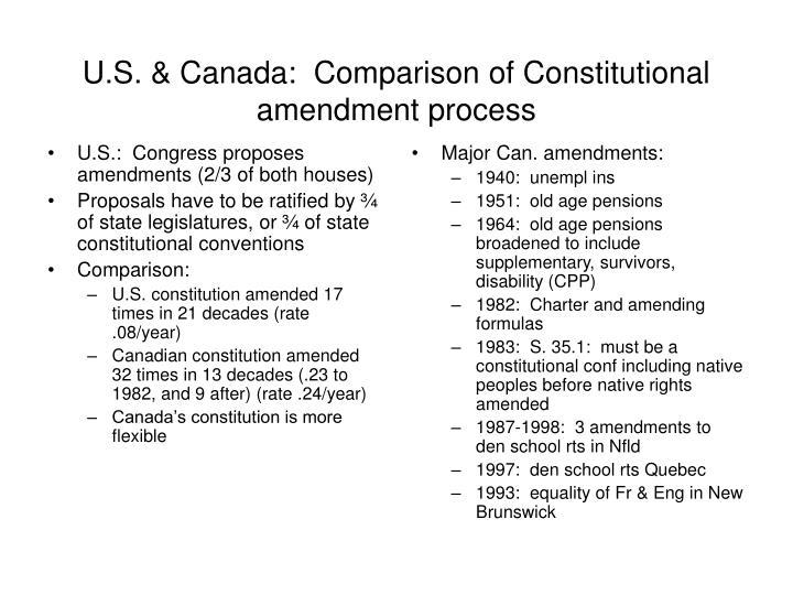 U.S.:  Congress proposes amendments (2/3 of both houses)