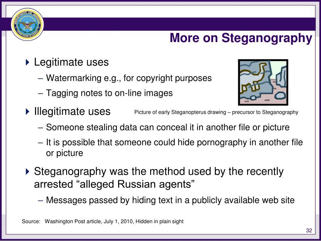More on Steganography