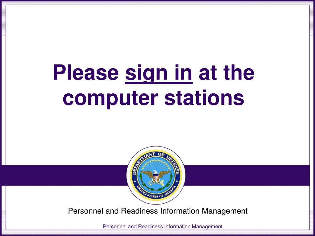 please sign in at the computer stations l.