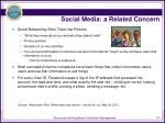 social media a related concern
