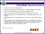 social media security concerns