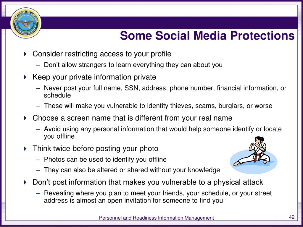 Some Social Media Protections