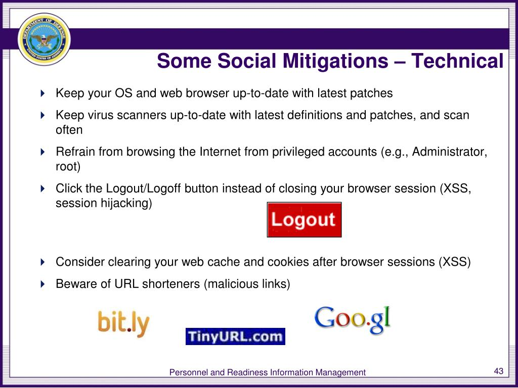 Some Social Mitigations – Technical