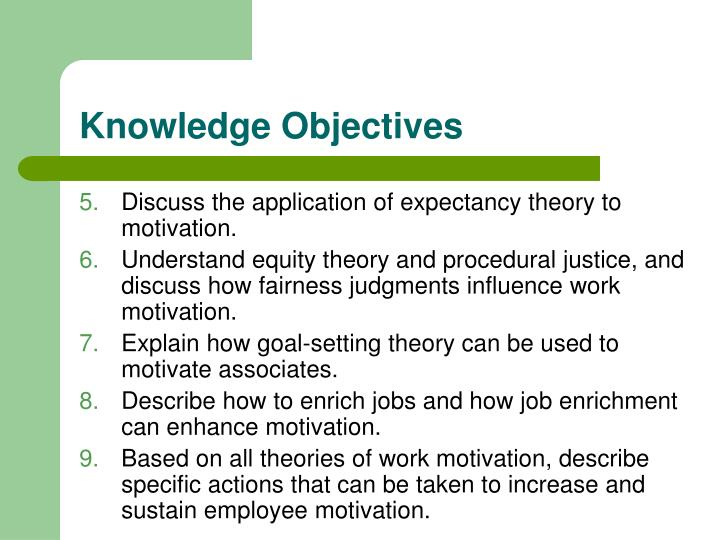 define motivation explain how the expectancy theory works essay Are a variety of constructs posited by motivation theorists to explain how motivation influences choice, persistence, and performance  focus on the expectancy.