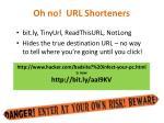 oh no url shorteners