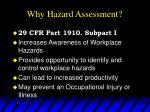 why hazard assessment