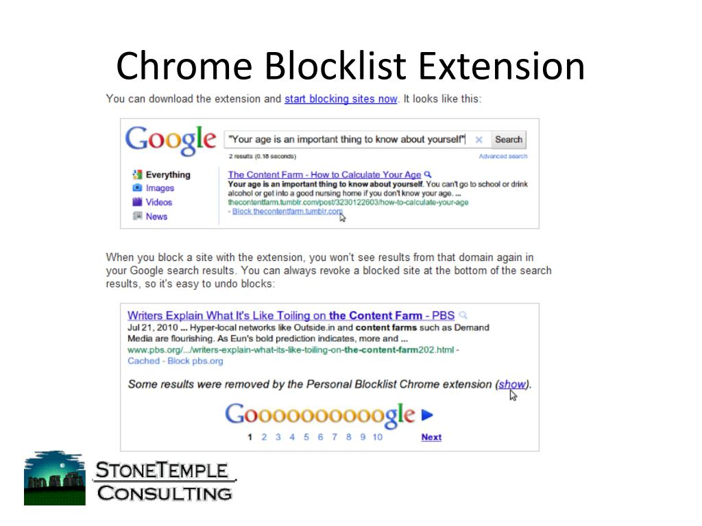 Chrome Blocklist Extension