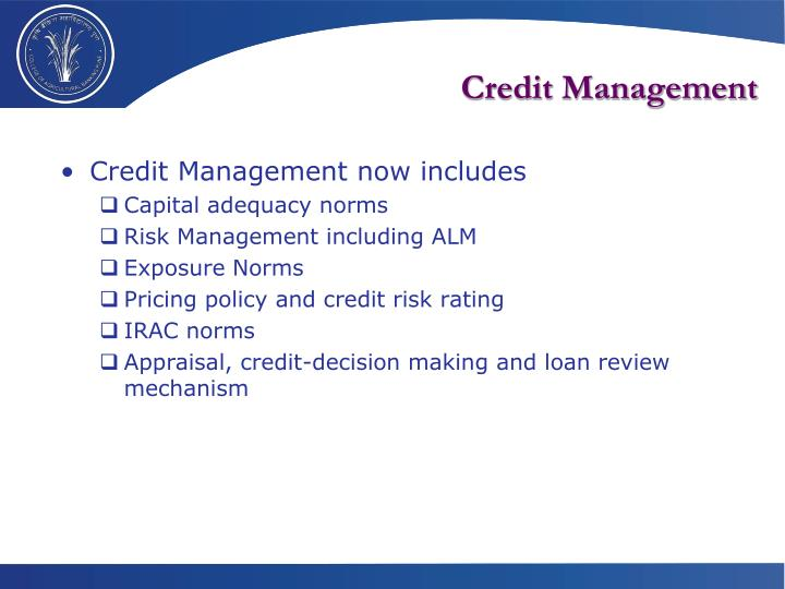 credit management The credit management function incorporates all of a company's activities aimed at ensuring that customers pay their invoices within the defined payment terms and conditions.