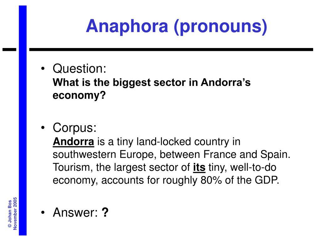 Anaphora (pronouns)