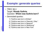example generate queries
