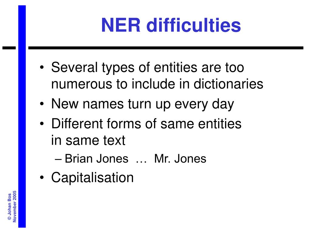 NER difficulties