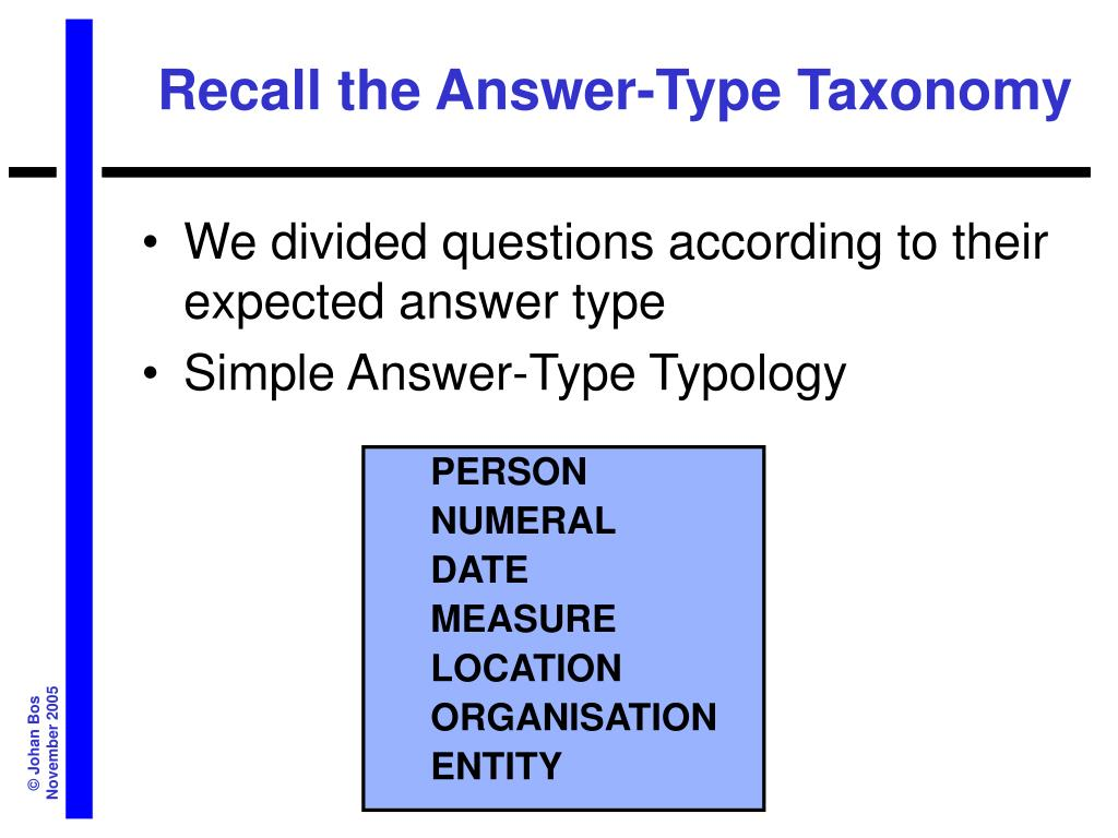 Recall the Answer-Type Taxonomy