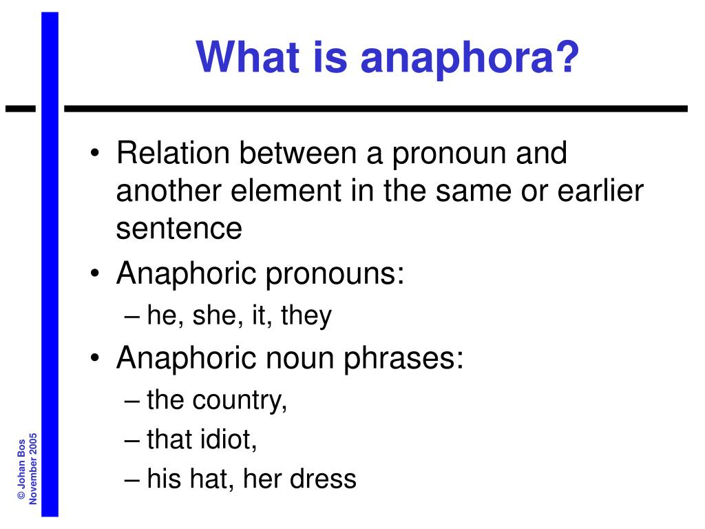What is anaphora?