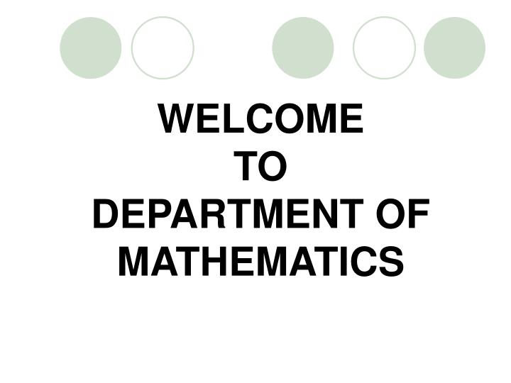 welcome to department of mathematics n.