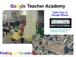 g o o g l e teacher academy