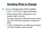 deciding what to change3