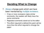 deciding what to change4