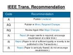 ieee trans recommendation