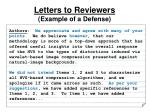 letters to reviewers example of a defense1